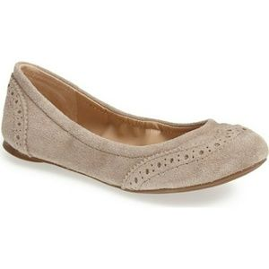 Sole Society Tanya Suede Ballet Flats